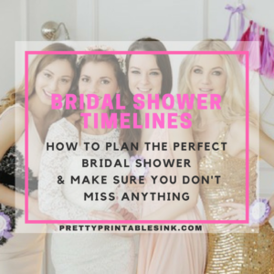bridal shower timelines to follow