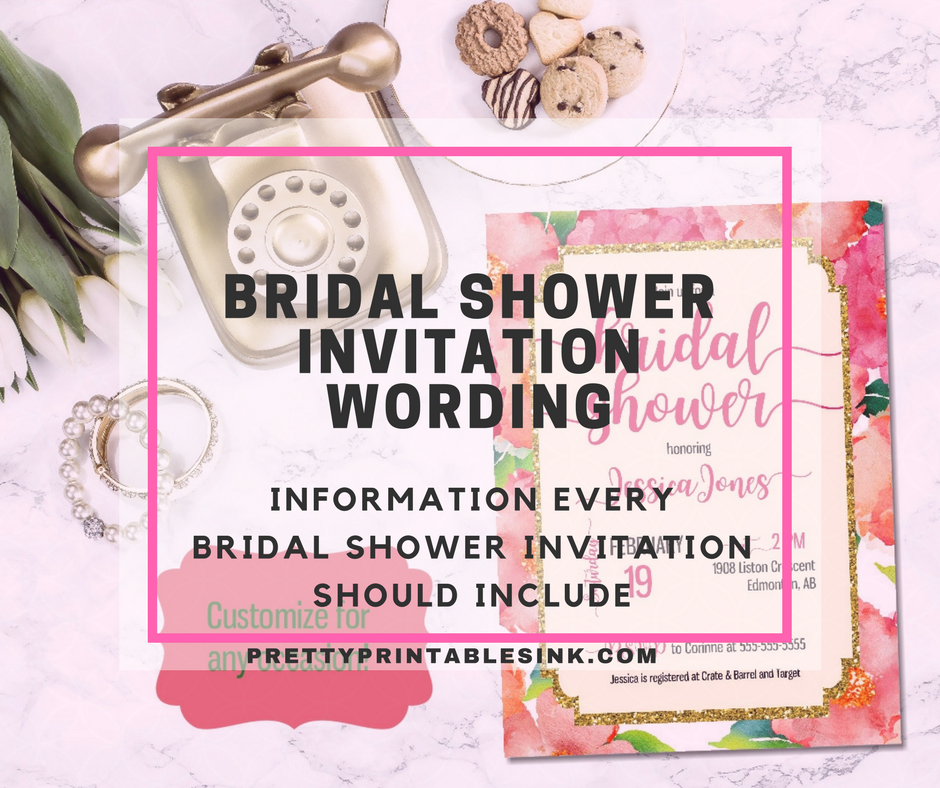 bridal shower invitation wording what you need to know pretty
