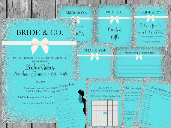 breakfast at tiffanys shower theme bride co bundle