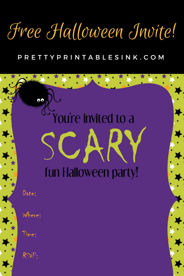 photo relating to Free Printable Halloween Invitations named Freebie Friday: Printable Halloween invite Rather