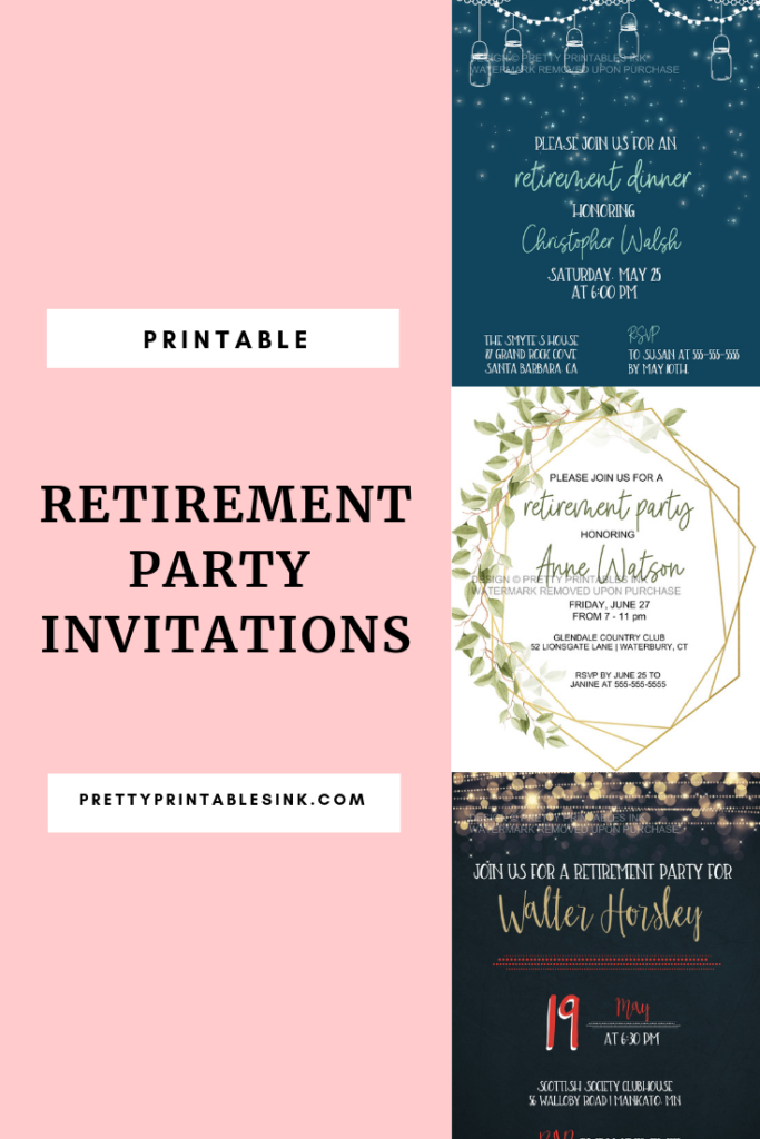 photograph about Printable Retirement Invitations identify How in the direction of method a retirement get together Incredibly Printables Ink