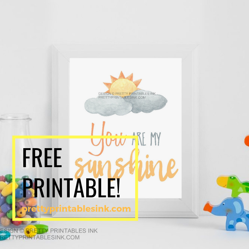 graphic relating to You Are My Sunshine Free Printable named Freebie Friday - Your self are my sunlight Fairly Printables Ink